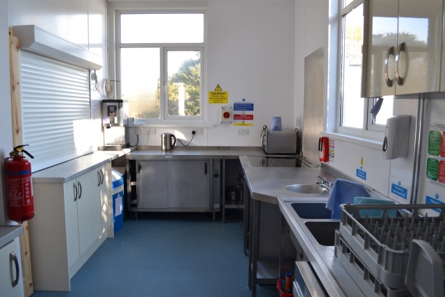 Chideock Village Hall kitchen
