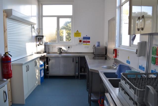 Chideock Village Hall kitchen